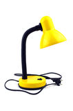 Żółta stołowa lampa Zdjęcia Royalty Free