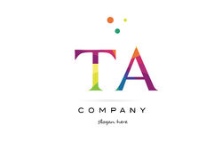 Ta t a  creative rainbow colors alphabet letter logo icon. Ta t a  creative rainbow colors colored alphabet company letter logo design vector icon template Royalty Free Stock Images