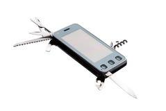 tła telefon komórkowy wielocelowy biel Zdjęcia Royalty Free