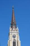 Ta tid på på domkyrkan, stad av Novi Sad, Serbien, utgångsfestivalplac Royaltyfria Foton