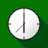 Ta tid på symbolen, vektorillustrationen, lägenhetdesignen EPS10 Arkivfoton