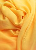 Żółta tkanina Obrazy Stock