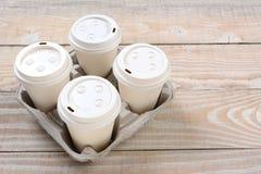 Ta ut kaffekoppar Royaltyfria Bilder