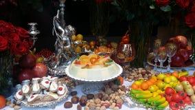 TAable van Desserts Stock Foto's