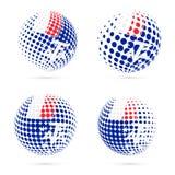 TAAF halftone flag set patriotic vector design. Stock Photos