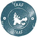TAAF map vintage stamp. Stock Photography