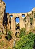 Taag DE Ronda, Nieuwe Brug, de provincie van Malaga, Andalusia, Spanje royalty-vrije stock foto
