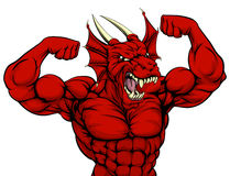 Taai Rood Dragon Mascot royalty-vrije illustratie