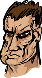 Taaie brutale hand-drawn kerel Royalty-vrije Stock Foto