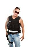 Taaie Cop royalty-vrije stock foto