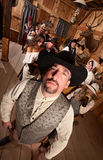 Taaie Cowboy in Herberg stock foto's
