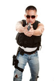 Taaie Latino Cop royalty-vrije stock afbeeldingen