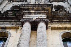 Taal教会门面在八打雁省,菲律宾 Sain大教堂  库存照片