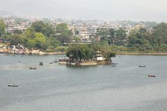 The Taal Barahi Temple on an island in Phewa Lake, Nepal Stock Photo