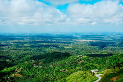 Taal crater lake seen from the slopes of the highly active taal volcano tagaytay in the Philippines, Mountain park tagaytay Stock Photo