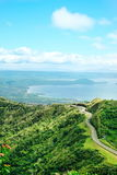 Taal crater lake seen from the slopes of the highly active taal volcano tagaytay in the Philippines, Mountain park tagaytay Stock Image