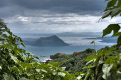 Taal Volcano. Beautiful view of Taal lake and volcano in Tagaytay, Philippines Royalty Free Stock Photos