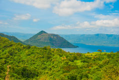 Taal Volcano on Luzon Island North of Manila, Philippines Royalty Free Stock Image