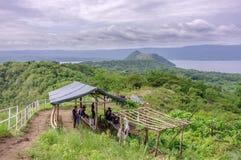 Taal-Vulkan Hügel lizenzfreies stockfoto