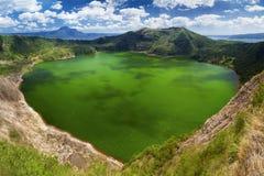 Taal vulkan, Manila, Filippinerna Arkivbilder