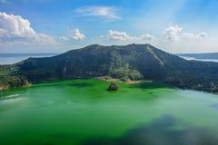 Taal wulkan w mgle, Luzon Filipiny wyspa Obrazy Royalty Free