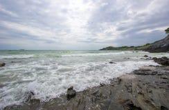 Taam Pang Beach, der einzige wirkliche Strand auf Koh Sichang, Chonburi, Thailand Stockfotos
