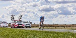 骑自行车者马勒Taaramae 免版税库存照片