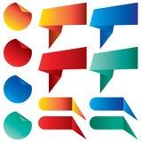 Tab Banner avec la conception colorée d'isolement sur le fond Images libres de droits