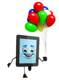 Tab Character with balloons Royalty Free Stock Image