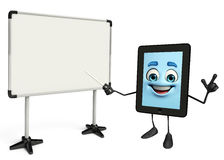 Tab Character with display board Royalty Free Stock Image