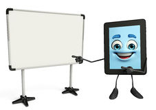 Tab Character with display board Stock Photos
