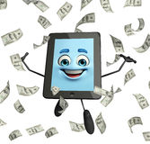 Tab Character with dollars Stock Images