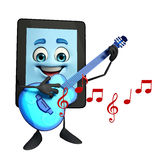 Tab Character with Guitar Stock Image