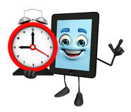 Tab Character with table clock Stock Photography