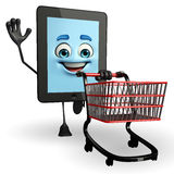 Tab Character with trolley Stock Photos