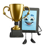 Tab Character with trophy Royalty Free Stock Images