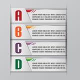Tab Graphic Modern Template Style-Vektor Lizenzfreies Stockbild