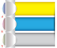 Tab horizontal bar Royalty Free Stock Photos