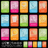 Tab icons on black, set 1 Royalty Free Stock Photos