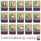 Tab icons set 2 Royalty Free Stock Photo