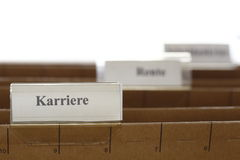 Tab with karriere Stock Photo