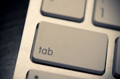 Tab on the keyboard Royalty Free Stock Photography