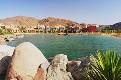 Taba, Egypt. Seaside Resort of Taba Heights in Sinai, Egypt Royalty Free Stock Photos
