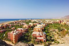 Taba, Egypt. View of the Holiday Resort Taba Heights, Egypt Stock Photos