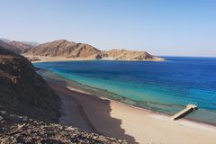 Taba, Egypt. View of the Red Sea and coast Sinai in Taba, Egypt Stock Image