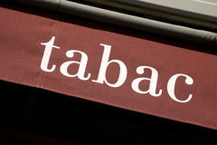 Tabac Sign. On red background, Paris, France, Europe Royalty Free Stock Images