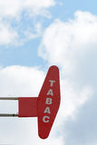 Tabac sign with LED lights Royalty Free Stock Photo