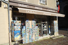 Tabac. Souvenir shop, Bayeux, France Royalty Free Stock Photos