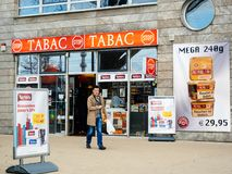 Free Tabac Tobacco Shop In Germany Near Strasbourg Stock Photography - 113829112
