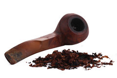 The Tabacco Pipe On The White Background  Unhealthy Stock Photos